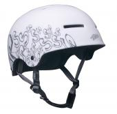 CASCO BMX FREERIDE DIRT STYLE PRO LTD BIANCO