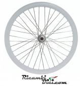 RUOTE FIXED 28 X 700 C CERCHIO 43 MM CONTROPEDALE BIANCHE