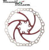 DISCO FRENO MTB ALLIGATOR CROWN 160 MM ROSSO