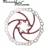 DISCO FRENO MTB ALLIGATOR CROWN 180 MM ROSSO