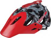 CASCO LIMAR 949 DR MTB FREERIDE CAMOUFLAGE-ROSSO