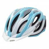 CASCO MTB KED PAGANINI VISOR MATT LIGHT BLUE