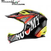 CASCO INTEGRALE DOWNHILL SUOMY JUMPER CARBON SPECIAL FLUSH ORANGE